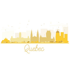 quebec city skyline golden silhouette vector image