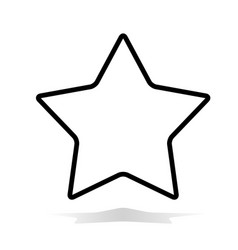 Star icon flat star icon on white background vector