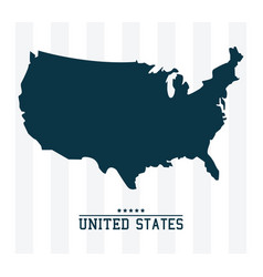 Map united states of america landmark design vector