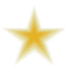 Star halftone vector
