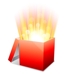 Glowing box vector image