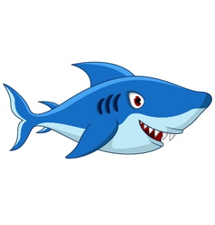 Shark cartoon for you design vector