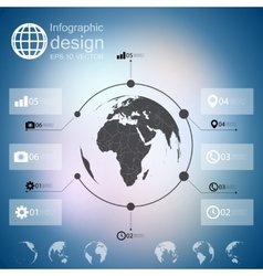 Infographic with unfocused background and icons vector