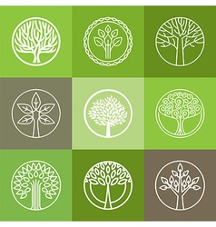 Tree logo set vector
