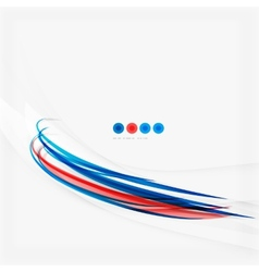 Red and blue color swirl concept vector image