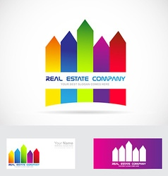 Real estate logo colored vector