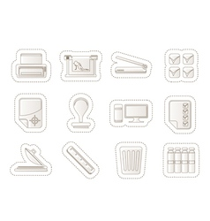 Print industry Icons vector image