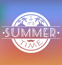 Summer Time Text Card vector image