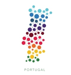 Dotted texture portugal background vector