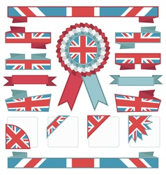 Uk stitched ribbons vector