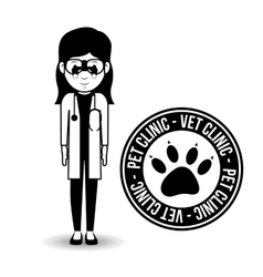 Vet clinic design vector
