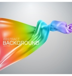 Rainbow silk fabric vector