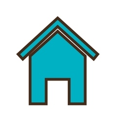 Real estate house isolated flat icon vector