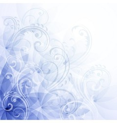 Flowers blue background vector image