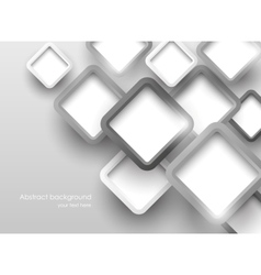 Background with gray squares vector image vector image
