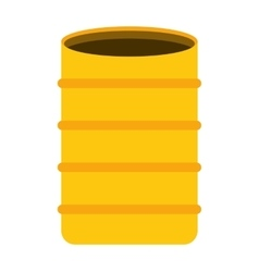 Barrel concrete container icon vector