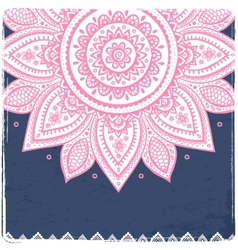 Beautiful vintage indian floral ornament vector