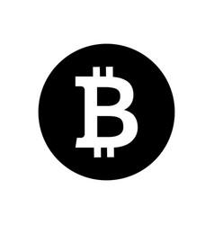bitcoin symbol vector image vector image