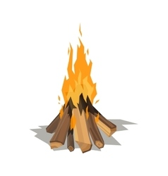 Bonfires flame isolated vector