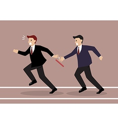 Businessman fail to passing the baton in a relay vector
