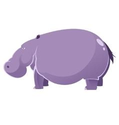 Cartoon fat hippopotamus vector