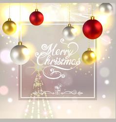 Christmas greeting card with christmas vector