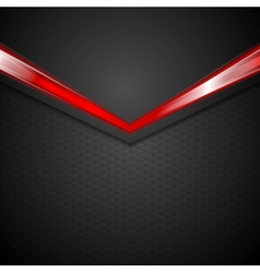 Dark corporate background with glow red arrow vector