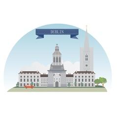 Dublin vector image