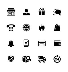 e-shop icons vector image