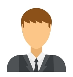 Flat avatar face character person portrait vector image vector image