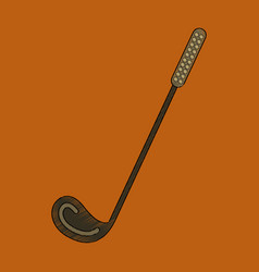 flat shading style icon golf club vector image vector image