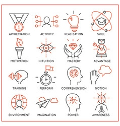 Human resource management icons - 2 vector image