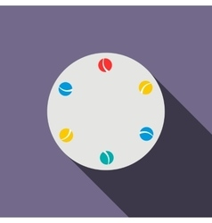 Juggling balls icon flat style vector image