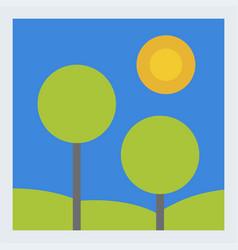 leaves of green trees landscape summer leaf vector image vector image