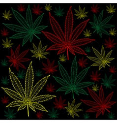Marijuana-cannabis-background vector