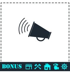 Megaphone icon flat vector