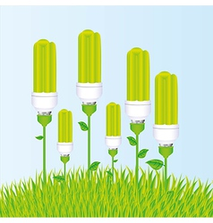planting of ecological bulb vector image