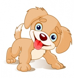 playful puppy vector image