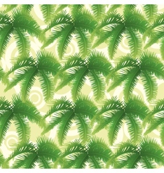 Seamless pattern palm leaves vector image vector image