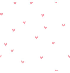 seamless patterns with pink hearts vector image vector image