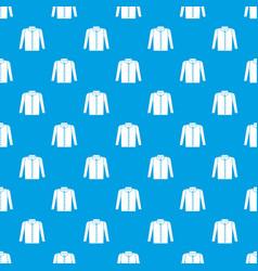 shirt pattern seamless blue vector image