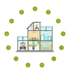 Smart home infographic vector