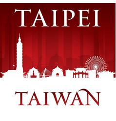 taipei taiwan city skyline silhouette red vector image vector image