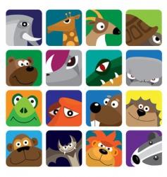 wildlife animals set icon vector image vector image