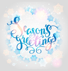Winter snowflakes background vector