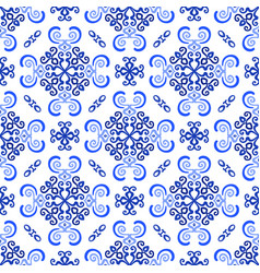 White blue background luxury weave pattern vector