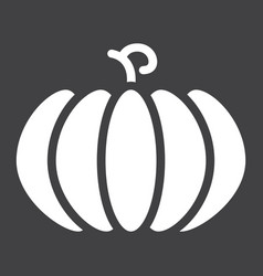 Pumpkin solid icon fruit and vegetable vector