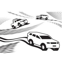 Off road safari in desert vector