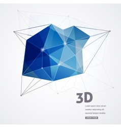 Polygonal geometric 3D printing background vector image