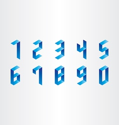Numbers from 0 to 9 3d design vector